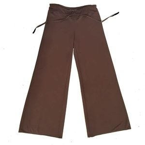 Max Studio knit wide leg pants front tie Small